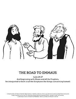 coloring page of jesus on the road to emmaus 17 best images about top sunday school coloring pages with