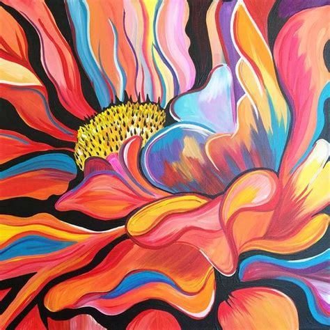 paint nite lynnfield 79 best canvas flowers images on canvas