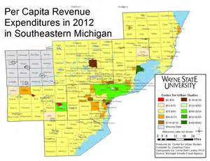 Southeast Michigan Map by Loss In Revenue Sharing Plagues Southeast Michigan