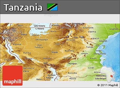 physical map of tanzania free physical panoramic map of tanzania