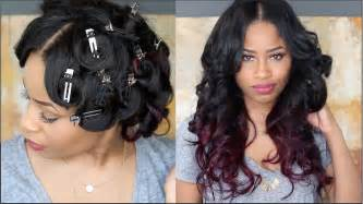 how to bring out curls in black hair how to pin curl that hair youtube