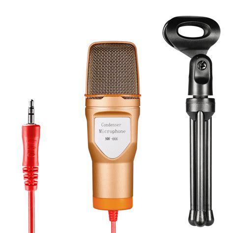 Mic Microphone Condenser Dslr Stereo Konextor Mini neewer condenser sound podcast studio microphone with mini tripod stand ebay