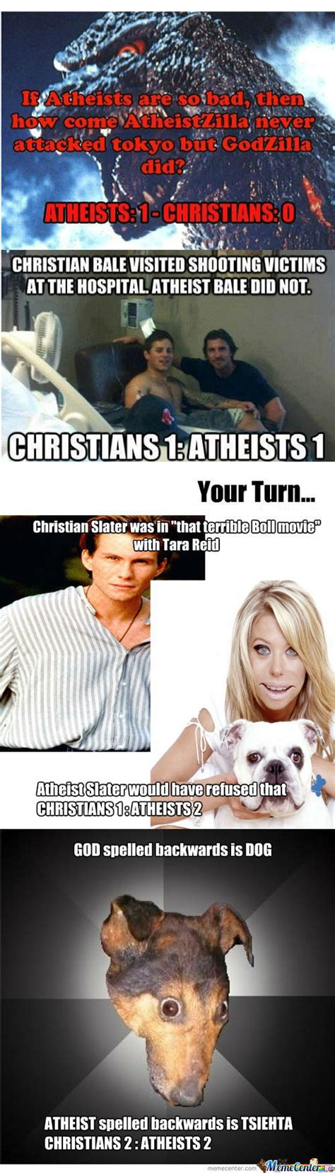Atheist Vs Christian Meme - rmx christians vs atheist by zeeelor meme center