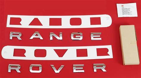 Chrome Front Bonnet Lettering For Range Rover Sport L320 Letters Logo Font Text Ebay Range Rover Sport Lettering Template
