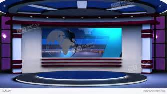 News tv studio set 63 virtual green screen background loop stock video
