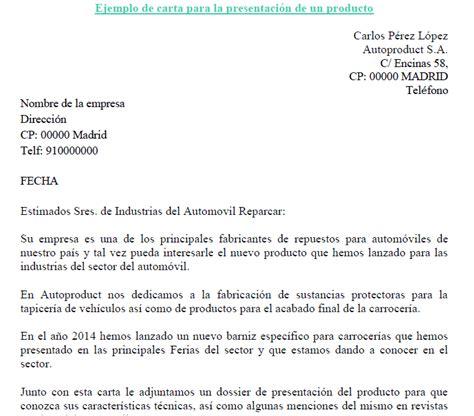 Carta Muestra De Interes ejemplo de carta de presentaci 243 n de un nuevo producto ejemplos de carta