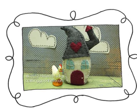 pattern felt house learn to make a tiny felt house with chimney crafting