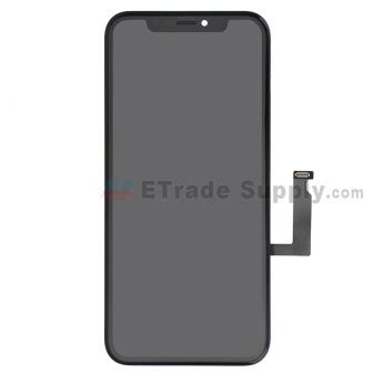 apple iphone xr lcd screen and digitizer assembly with frame black grade s etrade supply
