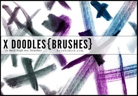 x doodle x doodle brush stroke brushes free photoshop brushes at