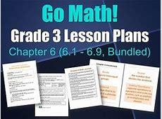UPDATED Go Math Grade 3 Lesson Plans, Chapter 6 (6.1 - 6.9, Bundled) | Models, Go math and Microsoft Lesson 6.1 Homework
