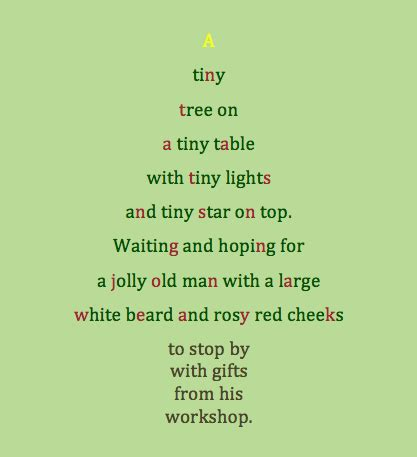 christmas tree card poem children poem on tree festival collections