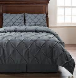 Washing A King Size Duvet Emerson Charcoal Grey King Size 4pc Pinch Pleat Puckering