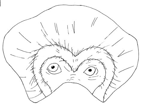 monkey mask coloring page monkey mask template coloring pages