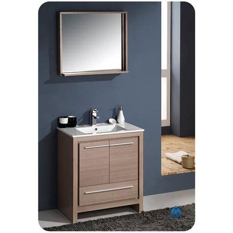 fresca allier 30 quot gray oak modern bathroom vanity w