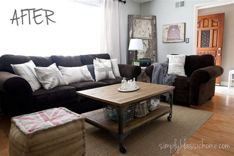 Ideas For Reupholster Furniture Design Industrial Blend Living Room Makeover Reveal Yellow Bliss Road