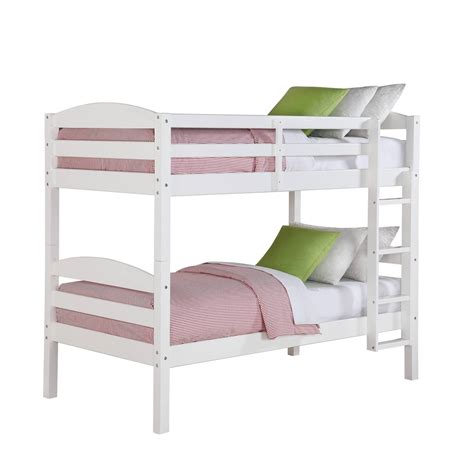 children bunk bed wooden 2 floor ladder ark size bunk bed convertible wood ladder white finish