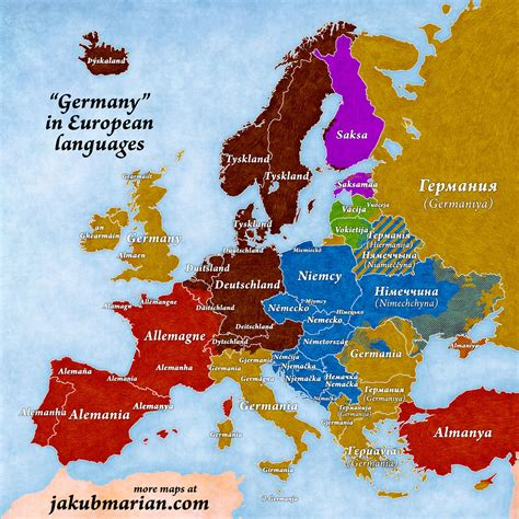 map of germany in german language names of germany in european languages