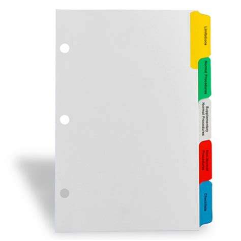 Decorative Tab Dividers by Index Tab Dividers Custom Index Dividers For Ring Binders