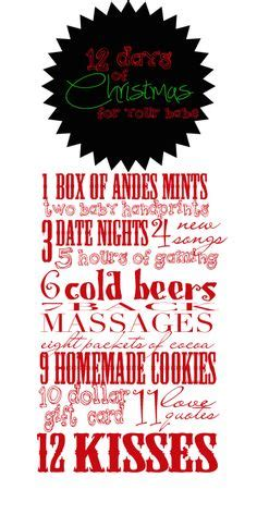 12 Days Of Gifts For Husband - 12 days of gifts and ideas on advent