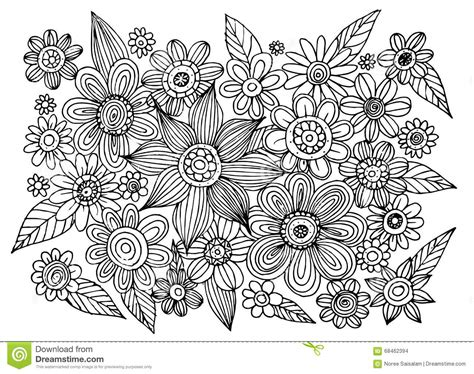 how to draw circle doodle flower doodle circle vector stock vector image 68462394