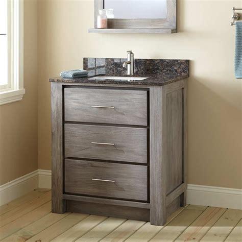 30 Vanities For Bathrooms 30 Quot Venica Teak Vanity For Rectangular Undermount Sink Gray Wash Bathroom