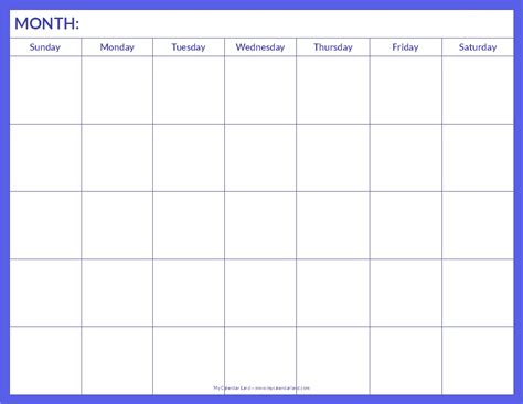 free printable blank calendar pages blank calendar printable my calendar land