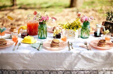 breakfast table ideas beyond the big day a pancake breakfast design sponge