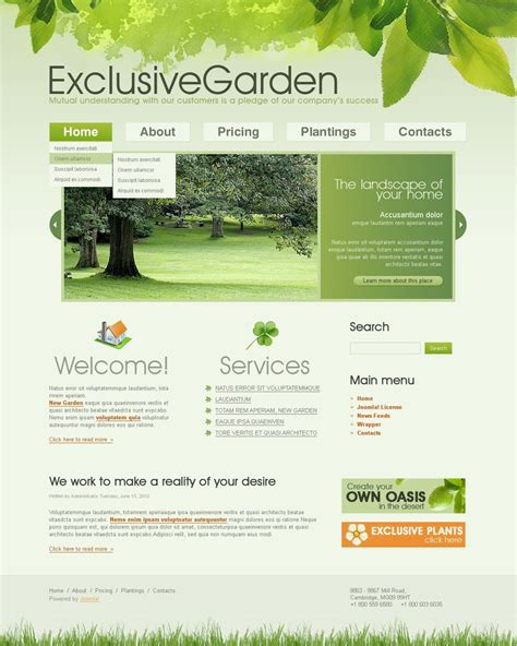 garden layout template garden design joomla template new screenshots big