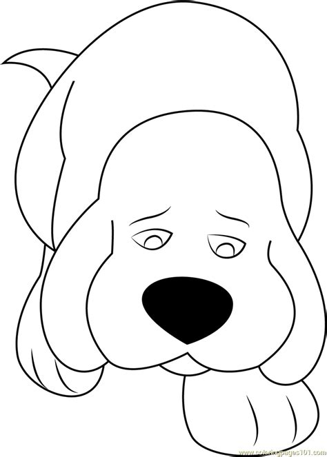 sad dog coloring page sad clifford coloring page free clifford the big red dog
