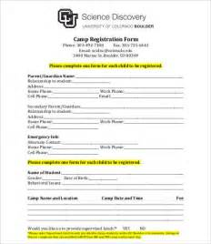 10 printable registration form templates free sle