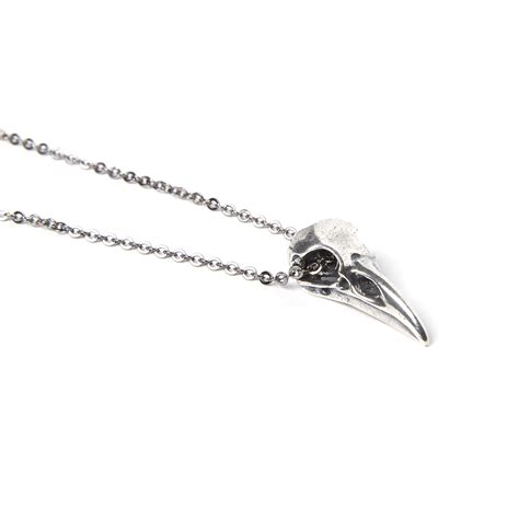 Skeleton Silver Plat White Harga Miring skull pendant necklace silver plated white bronze 18 quot chain moon designs