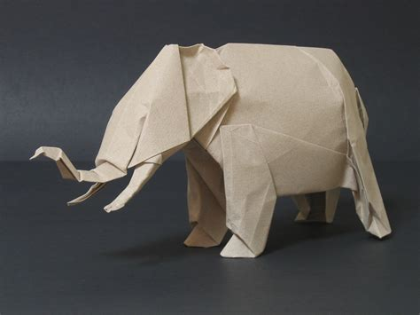Origami Elephant - zing origami animals beasts and creatures