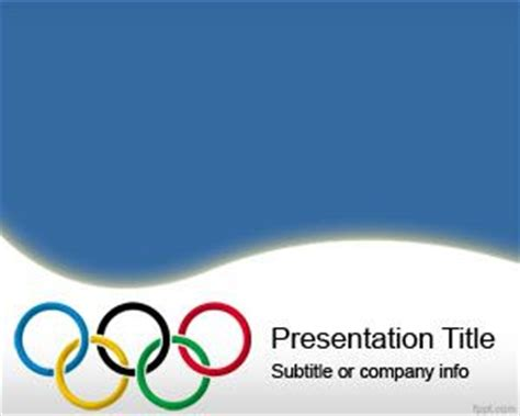 Olympic Rings Powerpoint Template Is A Free Ppt Template Olympic Ppt
