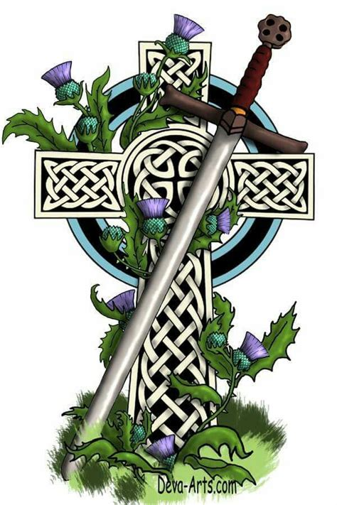 scottish celtic cross tattoos celtic cross with a claidheamh m 243 r scottish gaelic