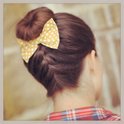 hair braided up into a bun style french up high bun updo hairstyle ideas cute girls