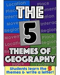 themes of geography scenarios 5 themes of geography worksheets activities projects