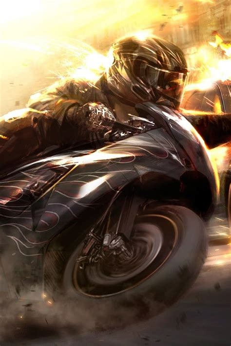 wallpaper iphone motorcycle 3d motorcycle iphone wallpapers iphone 5 s 4 s 3g