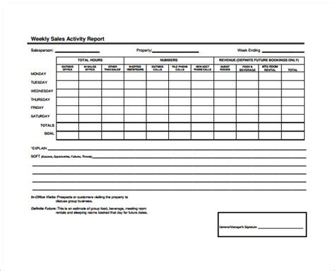 sle sales activity report template 23 free word pdf