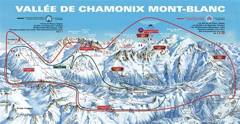 Map of Mont Blanc