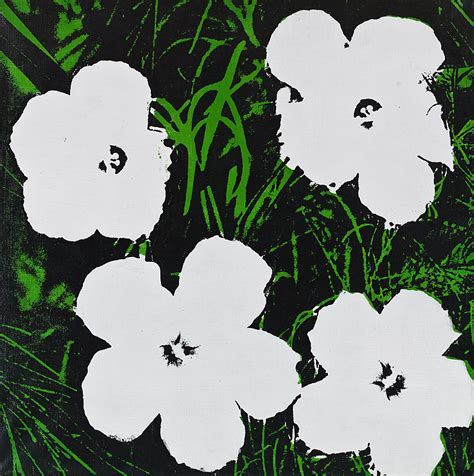 fiori di andy warhol 24 inch white flower painting andy warhol hepner