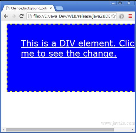background color javascript how to change background color of element in javascript
