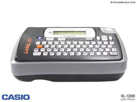 Deal Printer Label Casio Kl 120 Original jual casio kl 120w label printer etalasebelanja