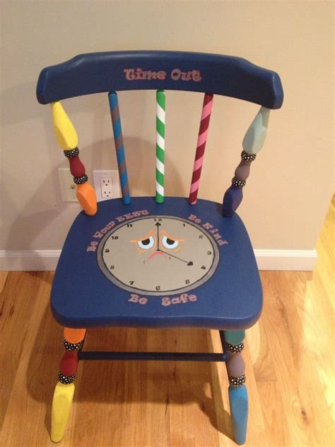 time out bench toddler hand painted kids time out chair colorful and whimsical