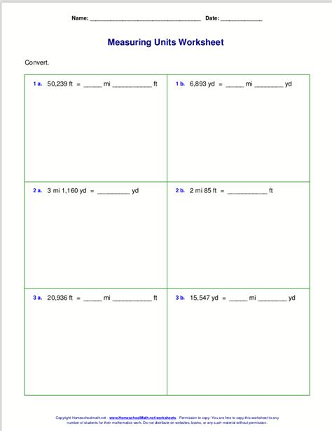 Math Worksheets Grade 6 Pdf by Free Grade 6 Measuring Worksheets