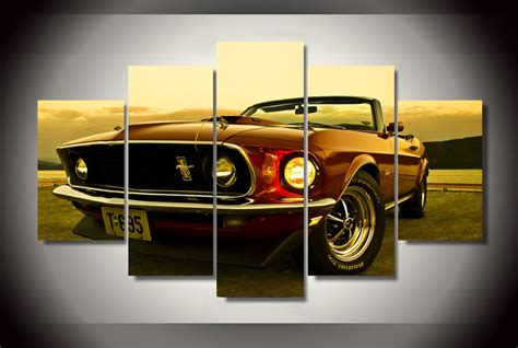 framed printed 1969 ford mustang painting children s room