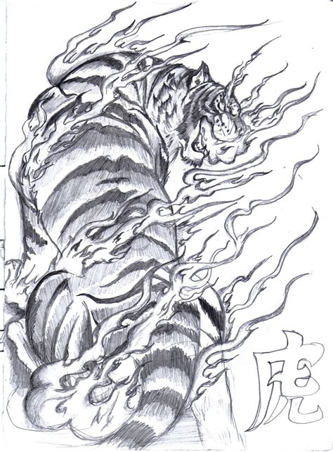 tiger tattoo outline designs tora tiger by frostyx999 on deviantart