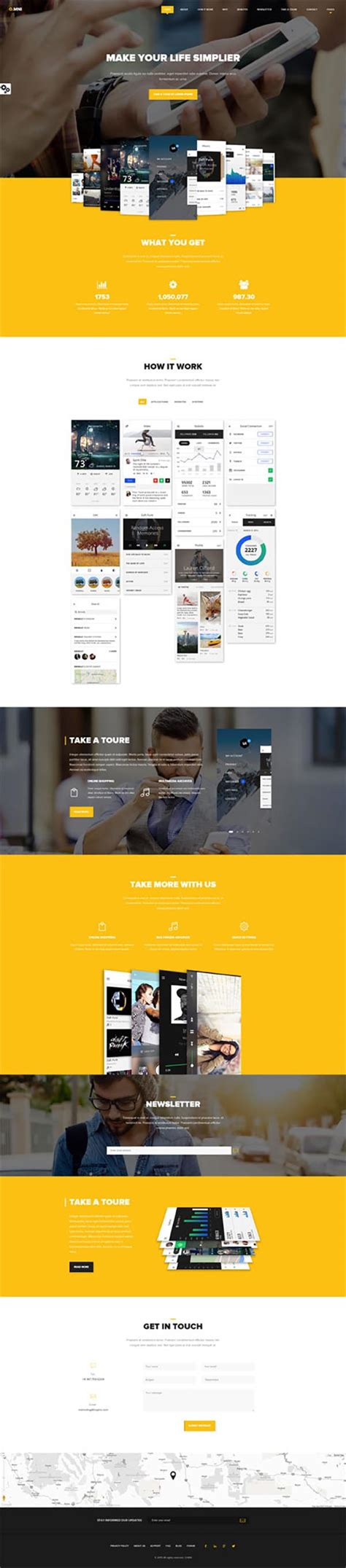 design app wordpress omni powerful one and multipage app wp theme wordpress