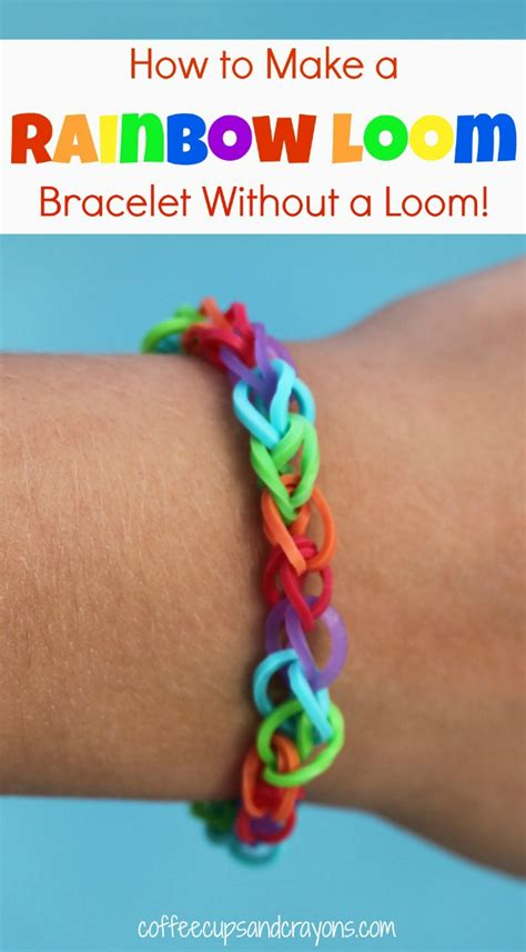 how to make loom bands with how to make rainbow loom bracelets by coffee cups