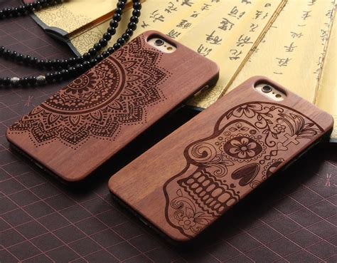 Casing Oneplus 2 Pattern 7 Custom Hardcase carved real wood pc wooden cover protect