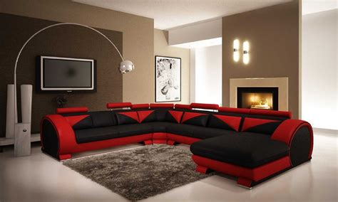 Home Design Modern Kitchen black furniture living room ideas with leather home design